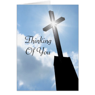 Thinking Of You Religious Greeting Card
