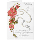 Thinking of you Rosary Bouquet Greeting Card