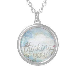 Thinking of you round pendant necklace