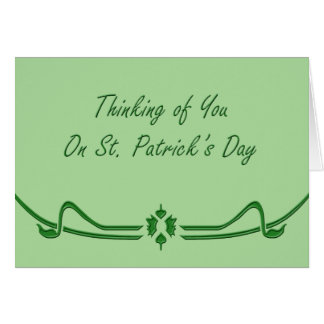 Thinking of You Saint Paddy's Day Greeting Card