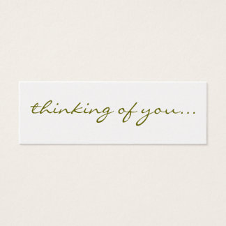 Thinking Of You: Silver Greeting Tag Mini Business Card
