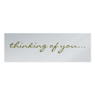 Thinking Of You: Silver Greeting Tag Pack Of Skinny Business Cards