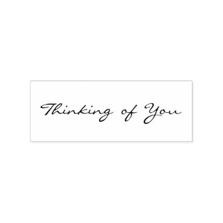 Thinking of You Simple Elegant Art Craft Wood Rubber Stamp