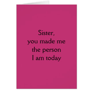 Thinking of You Sister Card - Sarcastically