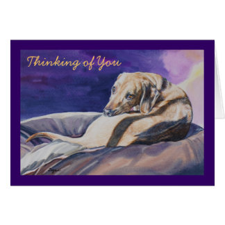 Thinking of You Sleeping Dog Card