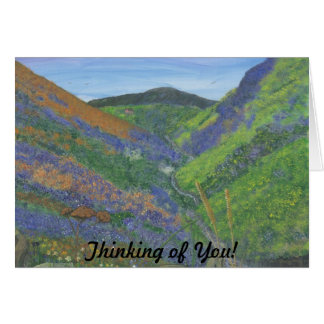 Thinking of you - Spring Time in the Mountains Greeting Card