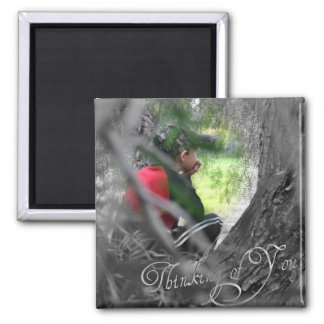 Thinking of You Square Magnet