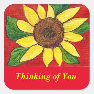Thinking of you Sunflower Sticker