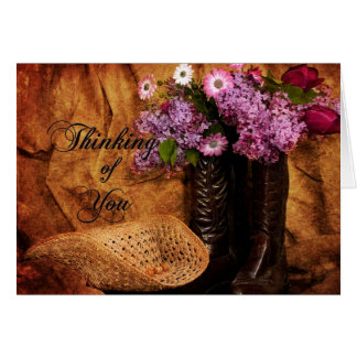 Thinking of You - Western Note Cards