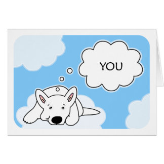 Thinking Of You>Whenever I Think Of You Dog Clouds Card