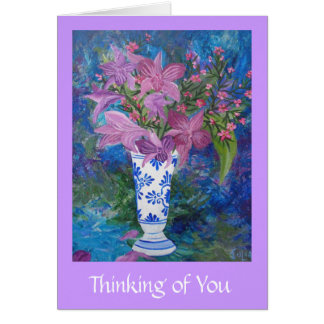 Thinking of You with Orichids Card