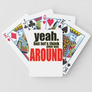 thinking other way around argument peace solution bicycle playing cards
