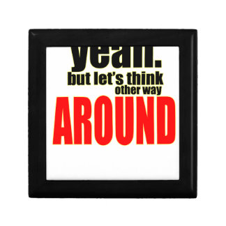 thinking other way around argument peace solution gift box
