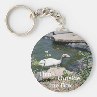 Thinking Outside the Box Basic Round Button Key Ring