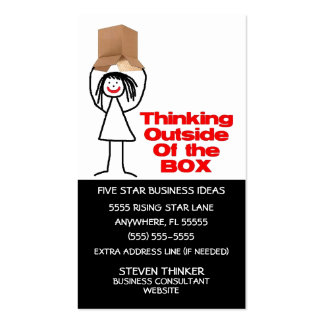 Thinking Outside The Box Pack Of Standard Business Cards