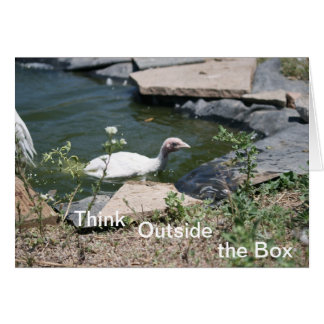 Thinking Outside the Box Greeting Card