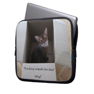 Thinking Outside the Box Laptop Computer Sleeve