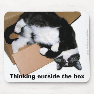 Thinking outside the box mousepad