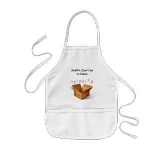 thinking outside the box, SANH. Don't be a sheep Kids Apron