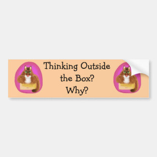 Thinking Outside the Box - Why? Bumper Sticker