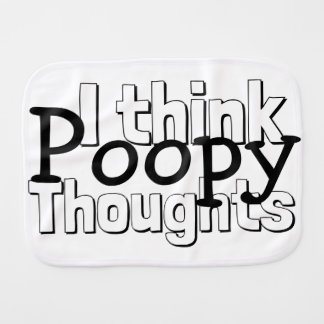 Thinking Poopy Thoughts Baby Burp Cloth