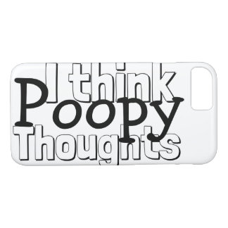 Thinking Poopy Thoughts iPhone 8/7 Case