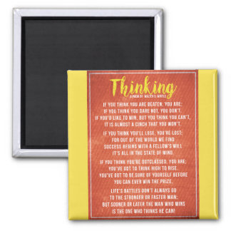 Thinking - Powerful Motivational Poem Magnet