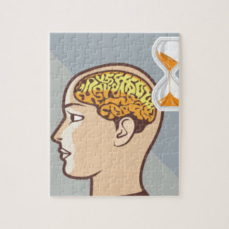 Thinking Process Brain and Sand Clock Jigsaw Puzzle