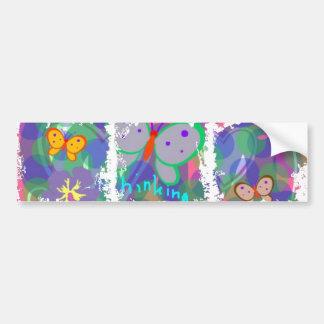 Thinking Spring Butterflies Bumper Sticker