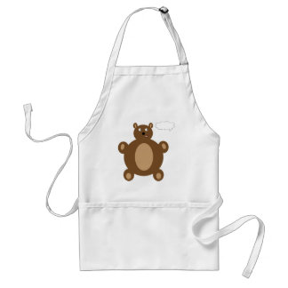 Thinking Teddy Bear Apron