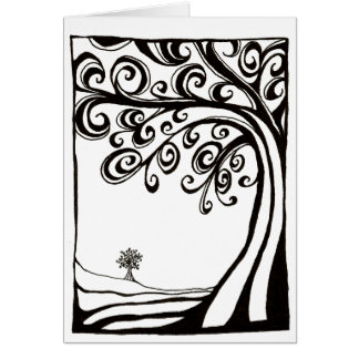 Thinking Tree - card