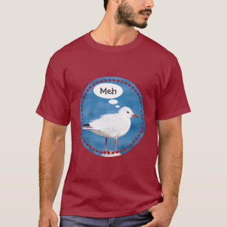 Thinking White Seagull Port Blue Sea Yokohama Meh T-Shirt