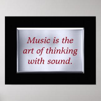 Thinking with sound - art print