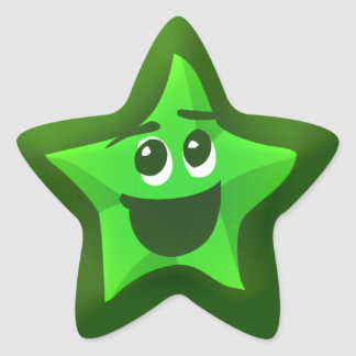 Thinkling Green Star Stickers
