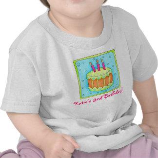 Third 3rd Kid s Birthday Cake Tee Shirt