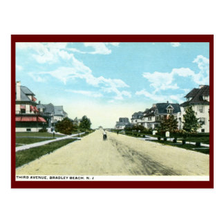Third Avenue, Bradley Beach, NJ Vintage Postcard