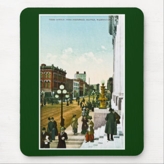 Third Avenue, from Post Office, Seattle,Washington Mouse Pad