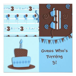 Third Birthday : Boy : Invitation