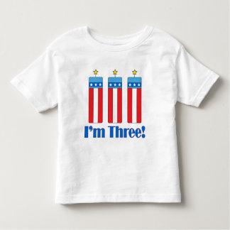 Third Birthday Firecracker Toddler T-Shirt