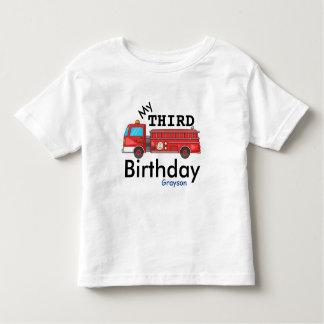 Third Birthday Firetruck Grayson Toddler T-Shirt