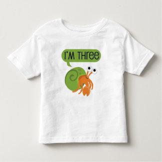 Third Birthday Hermit Crab Toddler T-Shirt