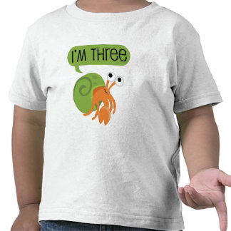 Third Birthday Hermit Crab Shirt