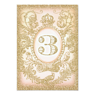 Third Birthday Once Upon a Time Princess 13 Cm X 18 Cm Invitation Card