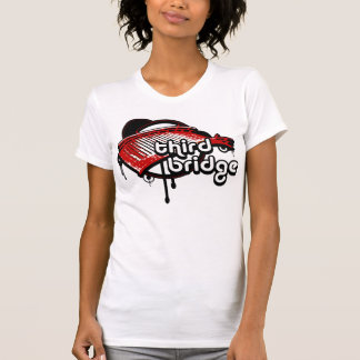 third bridge. white&red. T-Shirt