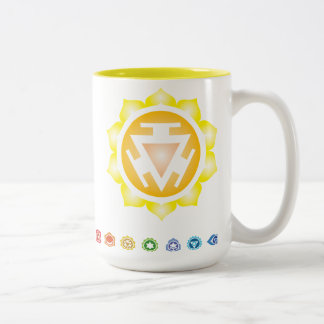 Third Chakra: claiming your power Two-Tone Coffee Mug