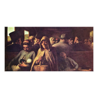 Third-Class Carriage By Daumier Honoré (Best Quali Personalized Photo Card