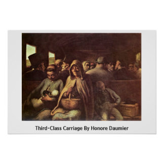 Third-Class Carriage By Honore Daumier Poster