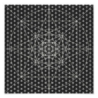 Third Dimension/Flower Of Life Sacred Geometry Poster