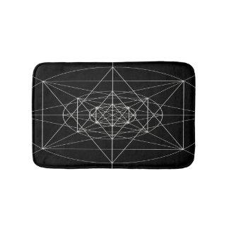 Third Dimensional Sacred Geometry Bath Mat