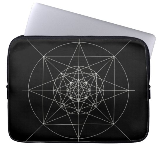 Third Dimensional Sacred Geometry Laptop Sleeve